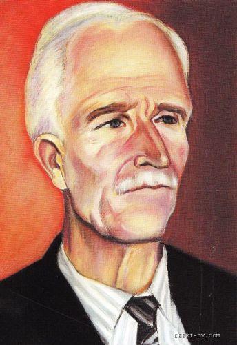 Писатель Николай Наволочкин работы художника Николая Долбилкина (1923-2010).